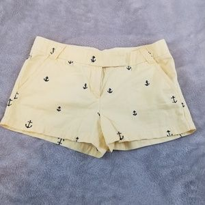 J Crew Yellow Anchors Navy Chino Shorts 8
